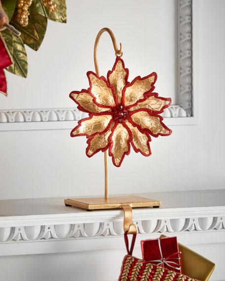 Flower/Red Glitter Stocking Holder
