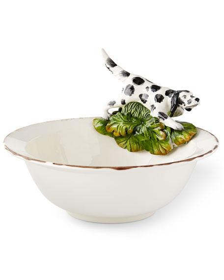 Wildlife Hunting Dog Serving Bowl