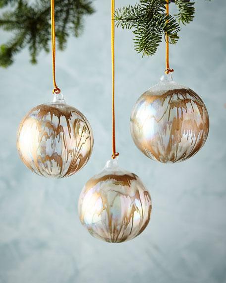 "Iridescent Ball Ornament, 4"""