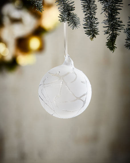 White & Silver Collection Winter Twig Ornament