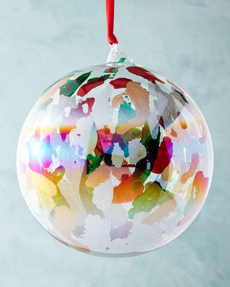 """Marble Ball Ornament, 6"""""""