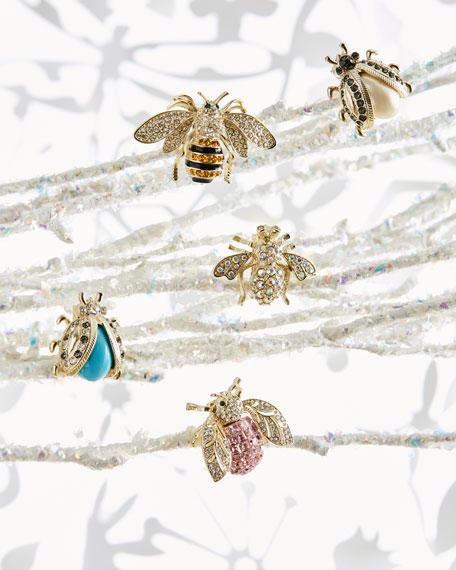 Pastel Mini Bug Clip Ornaments, Set of 5