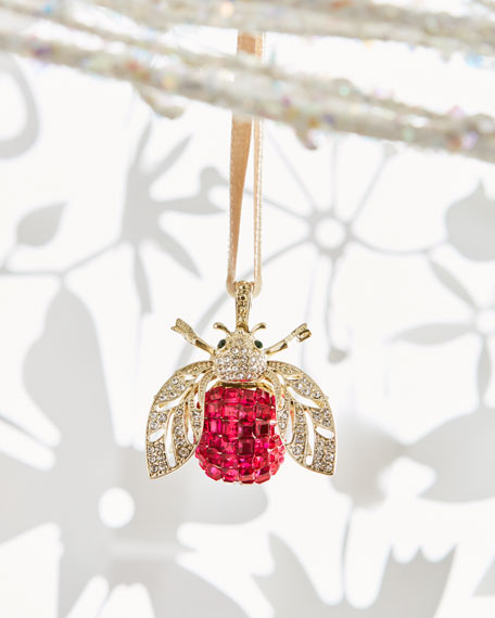 Sparkle Bee Ornament, Pink