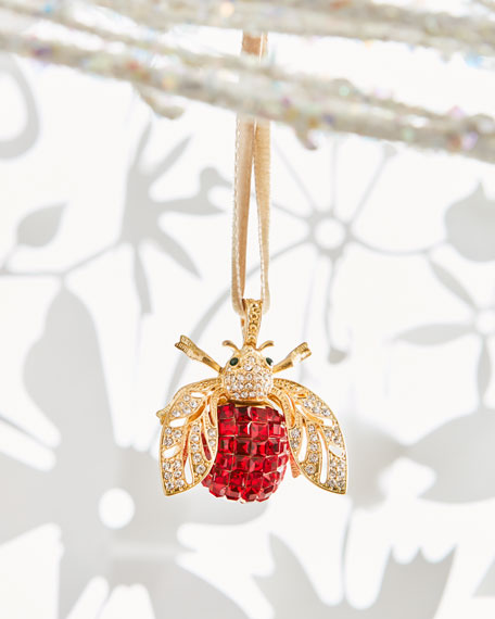 """Ruby"" Bee Ornament"