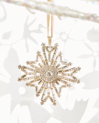 Baguette Snowflake Ornament