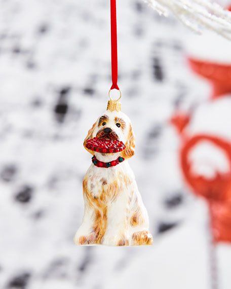 Goldendoodle with Throw Toy Ornament
