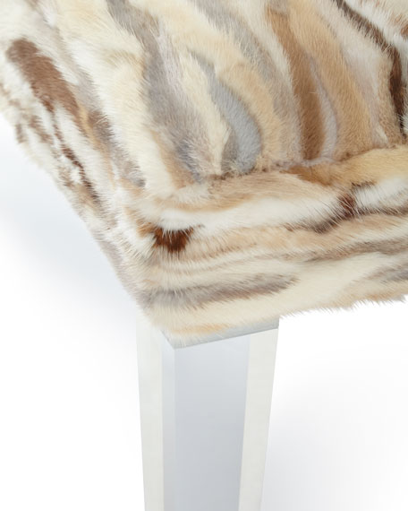 Leta Mink and Acrylic Bench