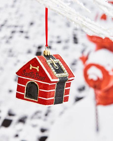Santa Paws Dog House Ornament