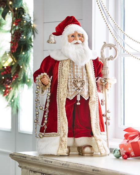 """""""Red & Gold"""" Santa"""