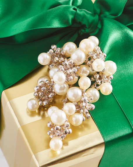 Pearly Glitter Gift Pick