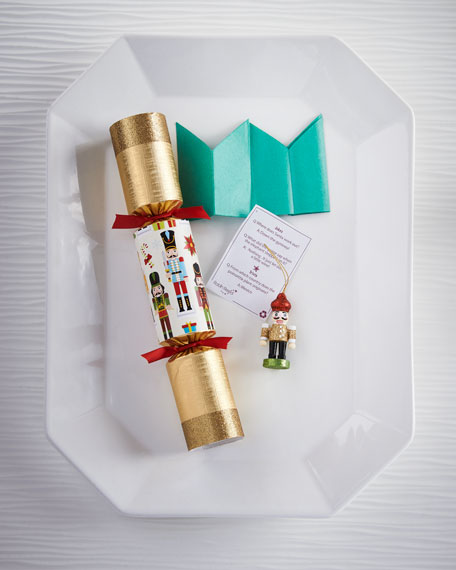 Traditional Nutcracker Christmas Crackers, Set of 6