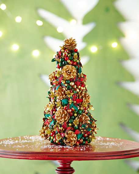 "Tartan Cheer Christmas Tree, 12"""