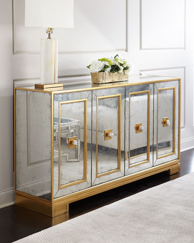Felix Four Door Mirrored Console