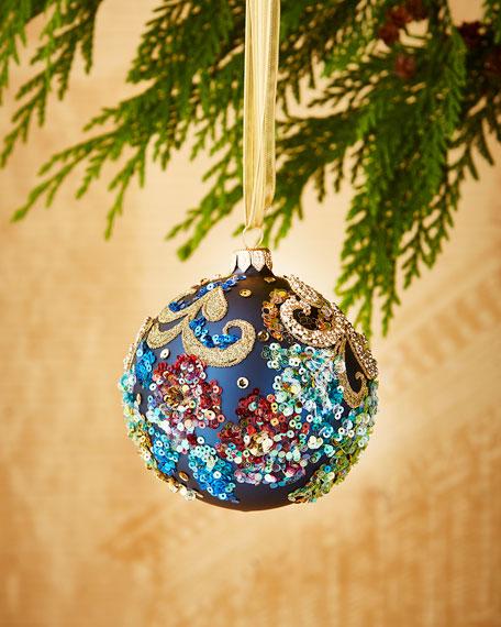 Matte Dark Blue/Floral Ornament