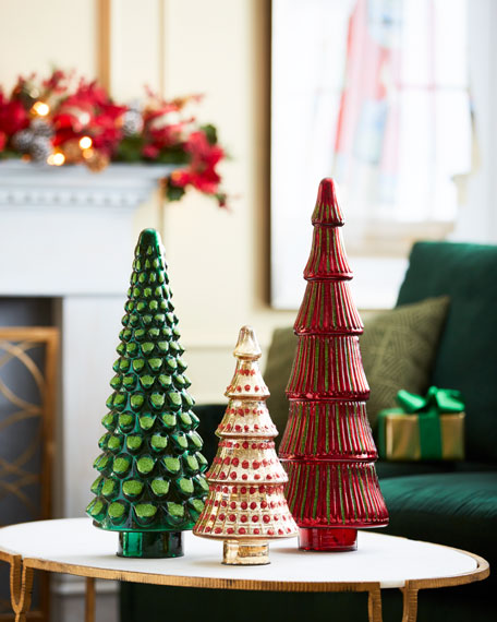 Red & Green Collection Mercury Red Ribbed Tree