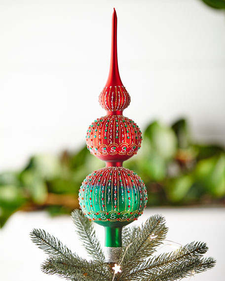 Red & Green Collection Tree Topper