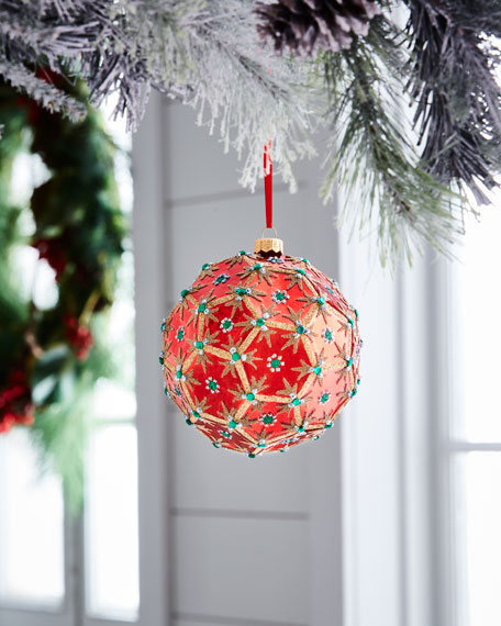 Red & Green Collection Ornament, 5""