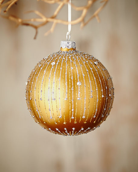"""Gold & Glitter Collection 4"""" Ornament"""