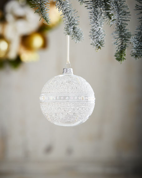 "White & Silver Collection 4"" Ornament"