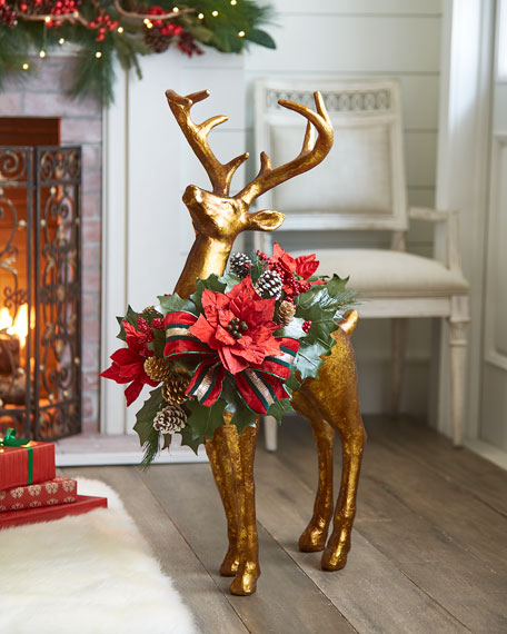 Red & Green Collection Standing Reindeer, 37""