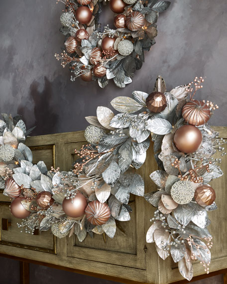Blush & Pewter Collection 6' Pre-Lit Garland