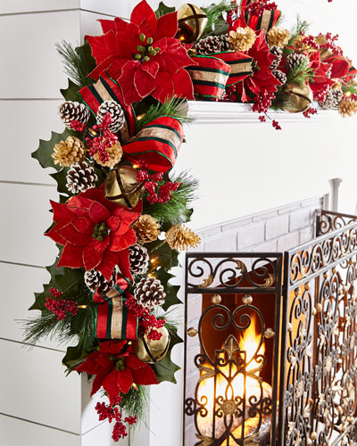 Red & Green Collection 6' Pre-Lit Garland