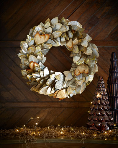Gold & Glitter Collection Magnolia Wreath