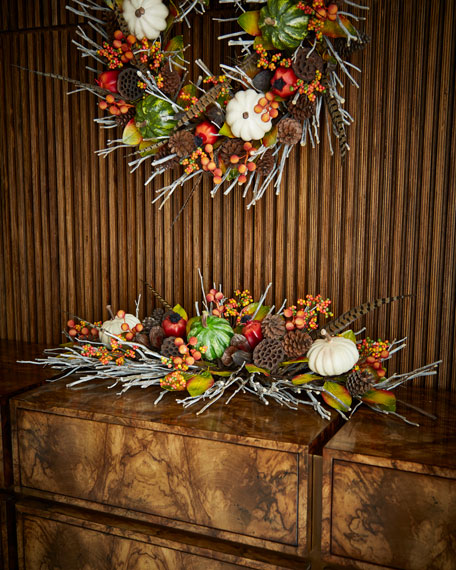 "Fall Gatherings Collection 46"" Mantelpiece"