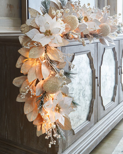 White & Silver Collection 6' Pre-Lit Garland
