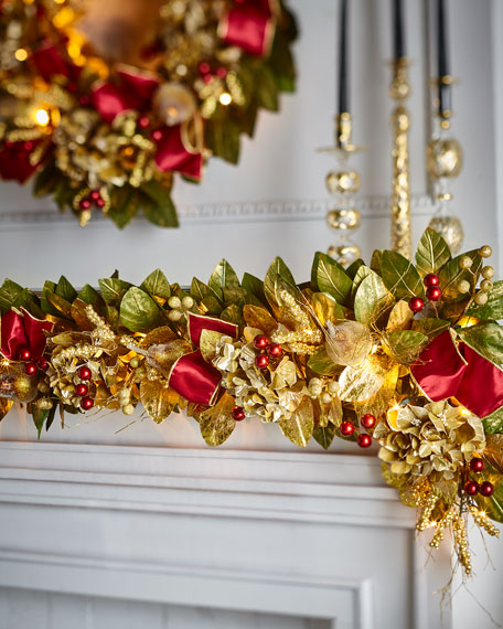 Gold & Glitter Collection 6' Pre-Lit Garland