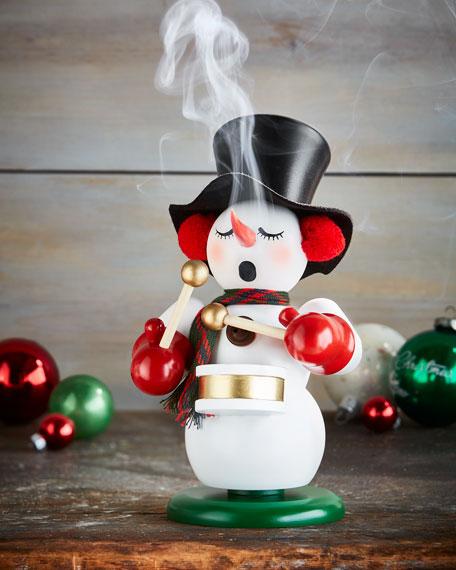 Snowman with Drum Nutcracker
