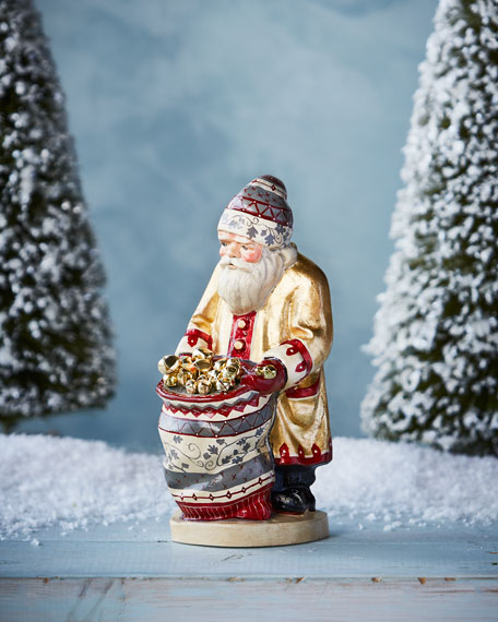 """""""When a Bell Rings"""" Father Christmas Figurine"""