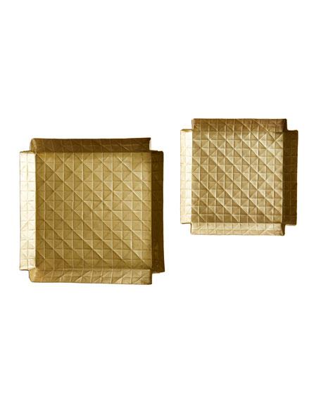 Paper Folded Trays, Set of 2