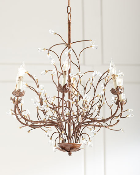 6-Light Iron Branch Chandelier
