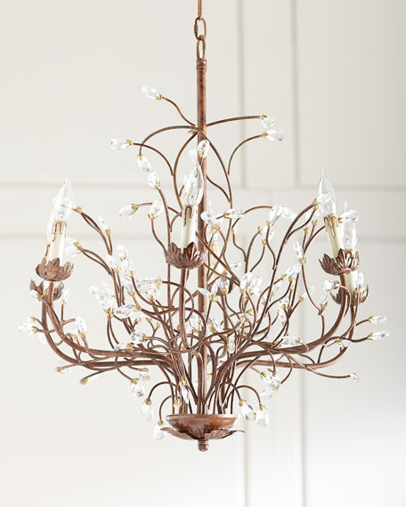 6 light iron branch chandelier aloadofball Image collections