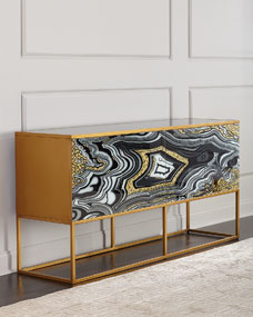 John Richard Collection Nicola Painted Agate Console
