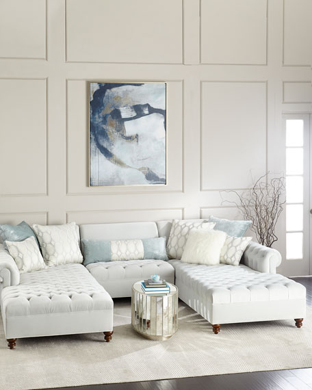 Elyse Tufted Double Chaise Sectional