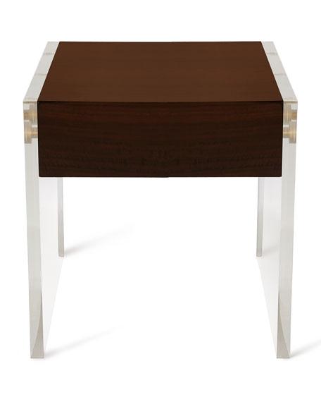 Welsh Acrylic & Wood Side Table