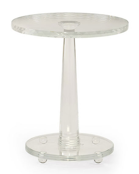 Demetra Glass Side Table