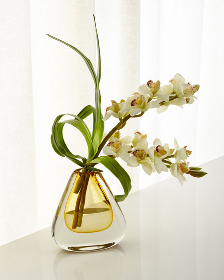 John-Richard Collection Teardrop Faux-Orchids
