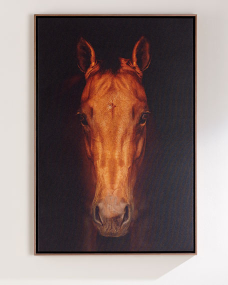 """Faithful Friend"" Horse Giclee Photography on Canvas"