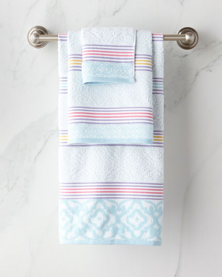 Lily Stripe Hand Towel