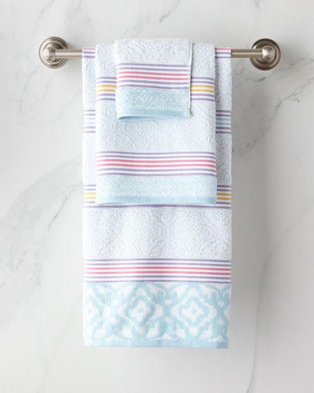 Lily Stripe Fingertip Towel