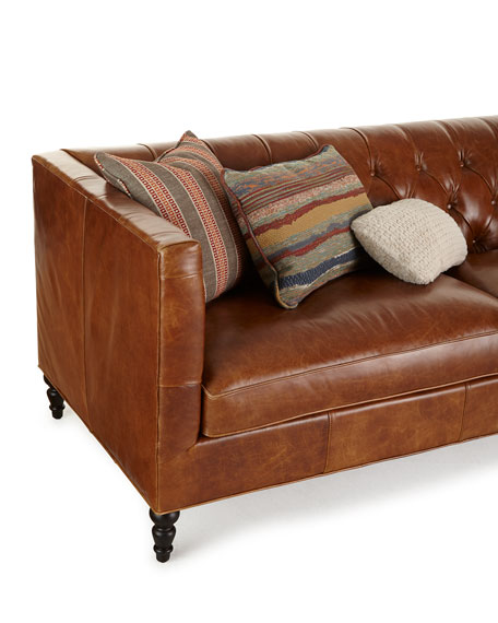 Kyrie Leather Tufted Sofa