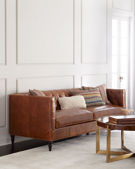 Attrayant Kyrie Leather Tufted Sofa