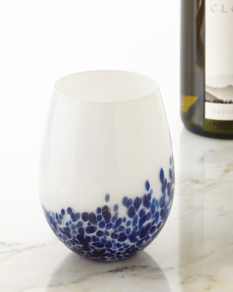 Artglass Stemless Wine Glasses, Set of 4