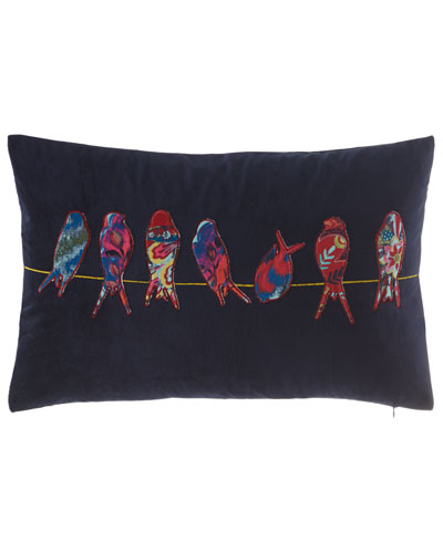 Bird Applique Pillow