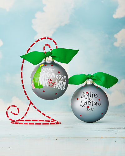 First Christmas As Mr & Mrs Christmas Ornament