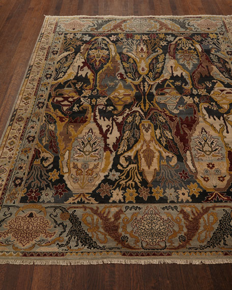 Exquisite Rugs Hamilton Hand-Knotted Rug, 6' x 9'
