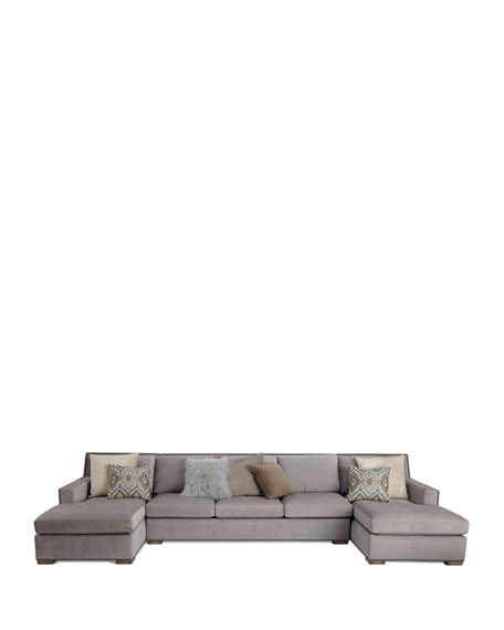 Jourdan Double Chaise Sectional 159""